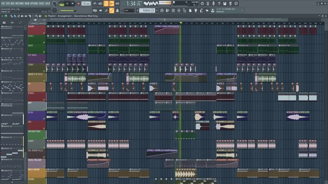 Free best big room electro house fl studio template by