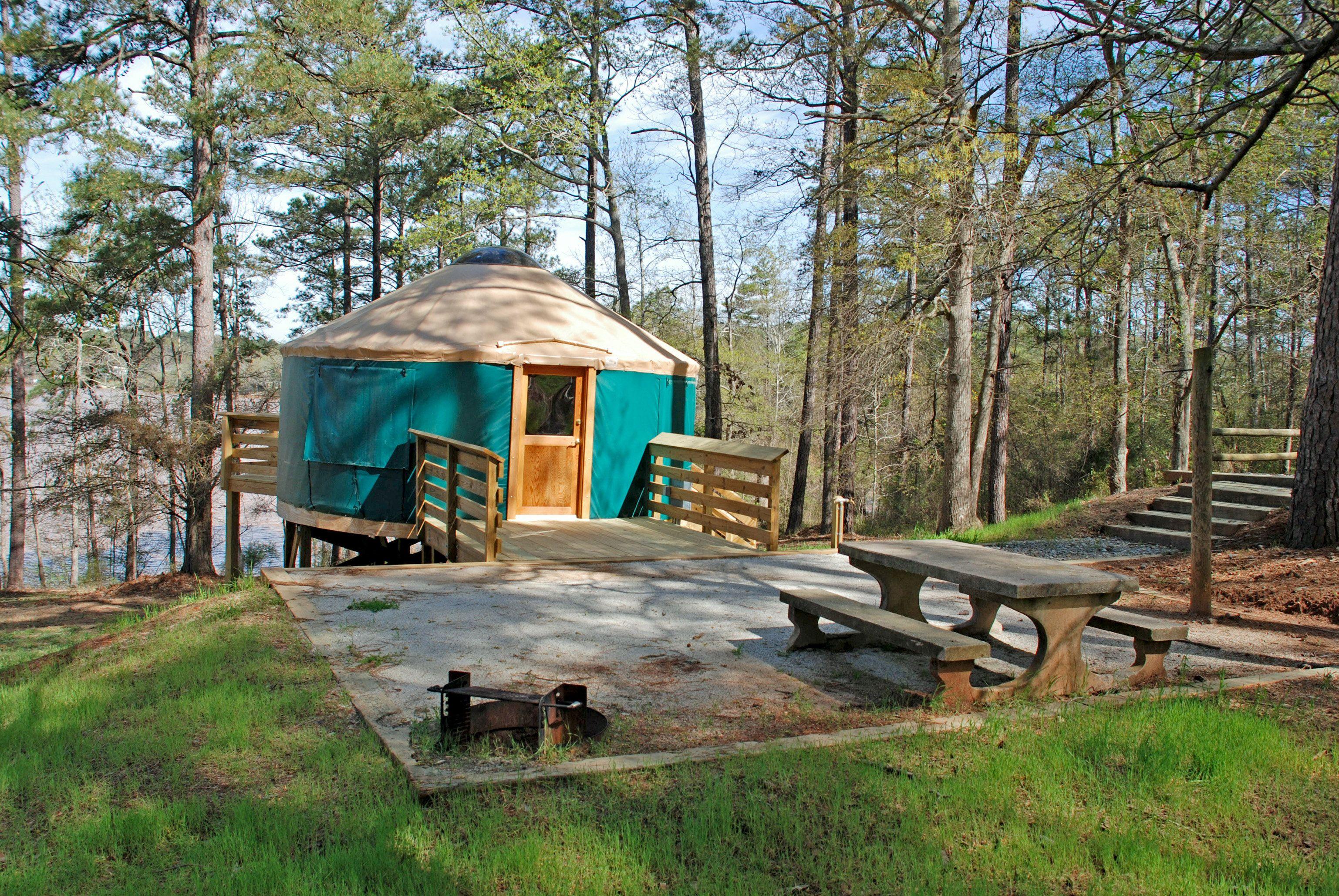 5 Georgia State Parks That Offer Yurt C&ing & 5 Georgia State Parks That Offer Yurt Camping | Tent camping ...