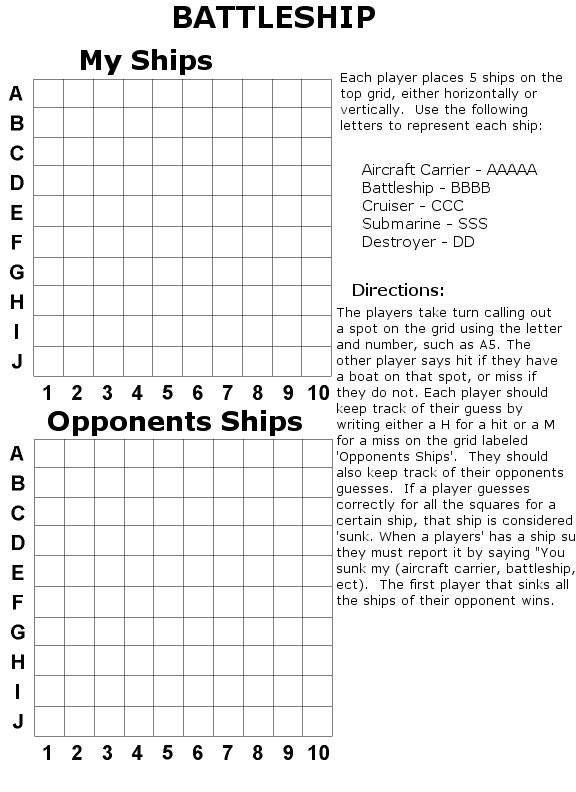 Sample Battleship Game Battleship Powerpoint Template Battleship