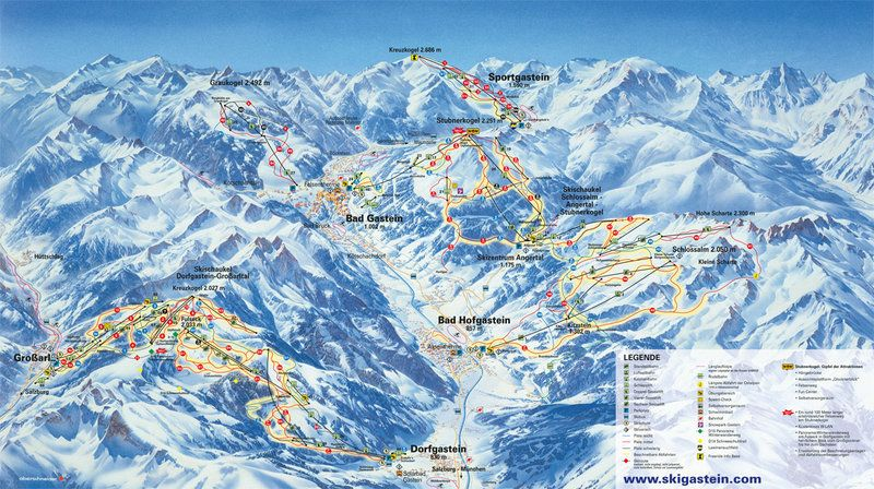 Lifts Ski Facilities Gastein Valley Valley Travel Ski