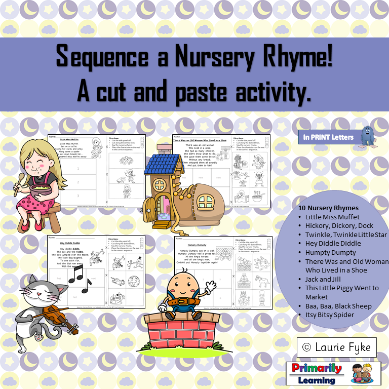 Nursery Rhymes Sequencing Nursery rhymes, Rhyming