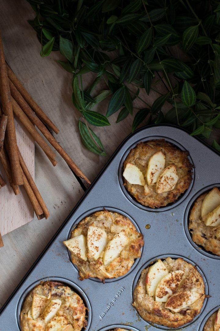 Entschleunigen mit saftigen Apfel Joghurt Muffins - nutsandblueberries