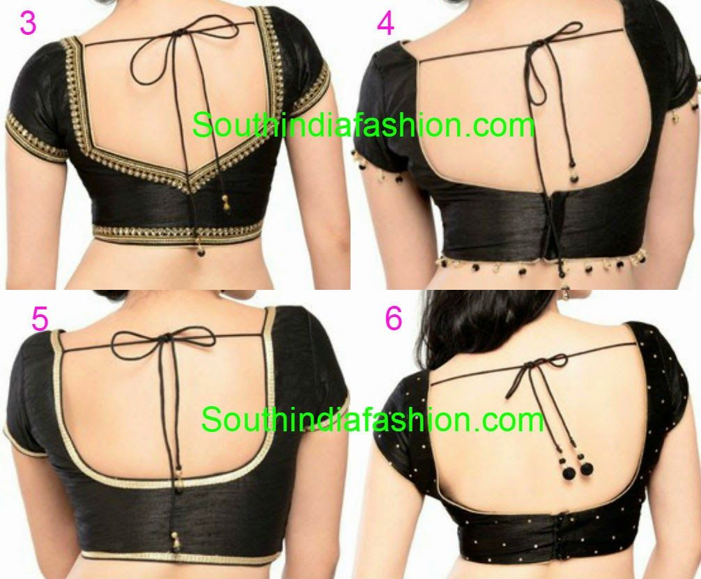 Blouse designs saree blouse back designs blouses neck designs 30 jpg - Readymade Saree Blouses Online Saree Blouseblouse Designsblack