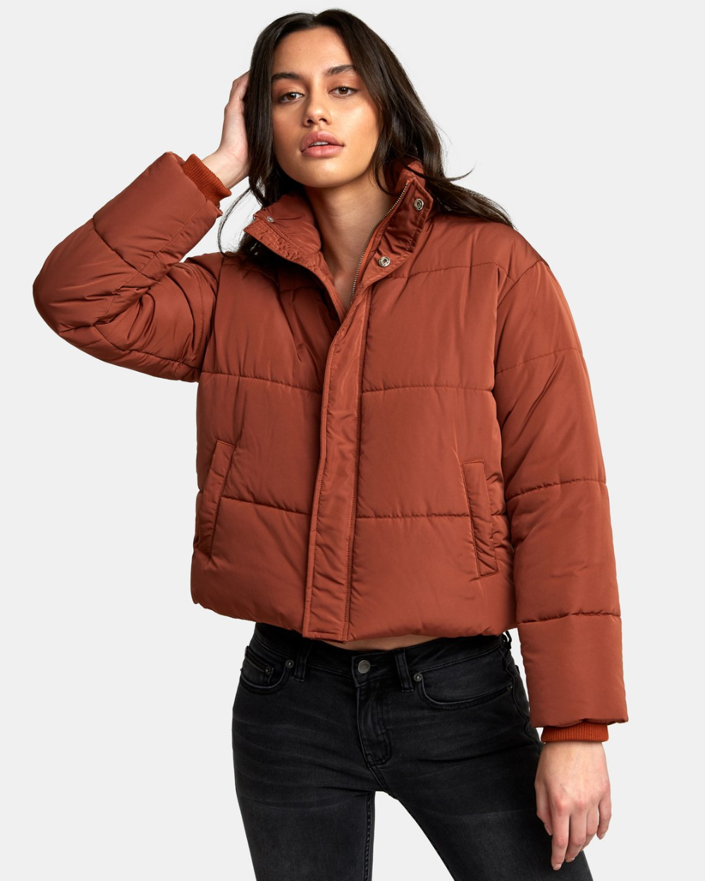Eezeh Puffer Cropped Jacket W703qree Puffer Jacket Outfit Crop Jacket Jackets [ 1249 x 1000 Pixel ]