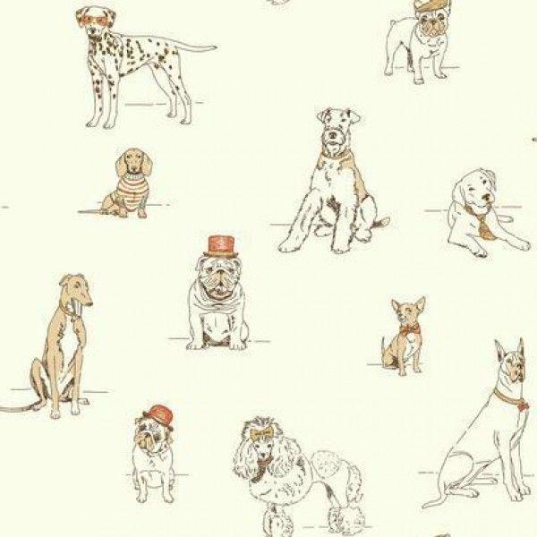 Dog S Life Af1940 York Wallcoverings Wallpaper Dog Wallpaper Wallpaper Warehouse Toile Wallpaper