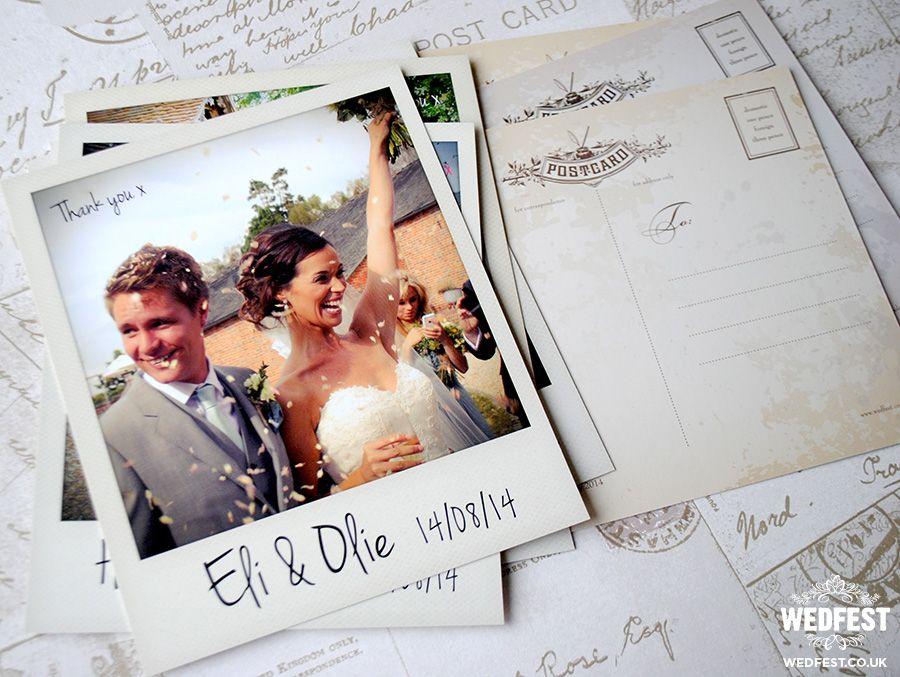 Polaroid Photo Wedding Thank You Card Postcards Wedding