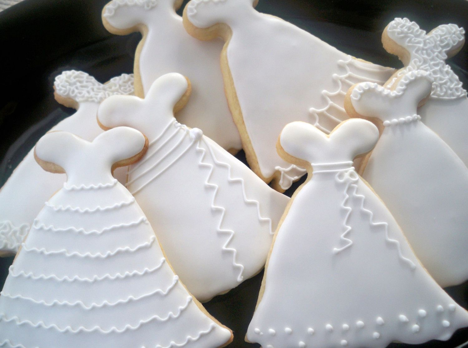 Custom Listing for Liliana - Wedding Dress Cookies- Bridal Shower ...