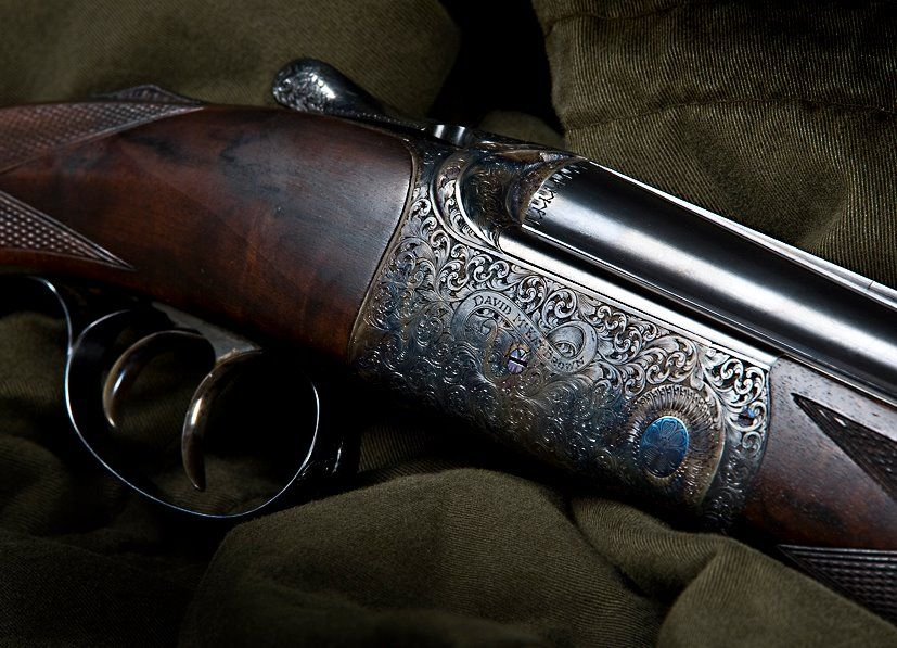 Scroll Work On This David Mckay Brown Shotgun