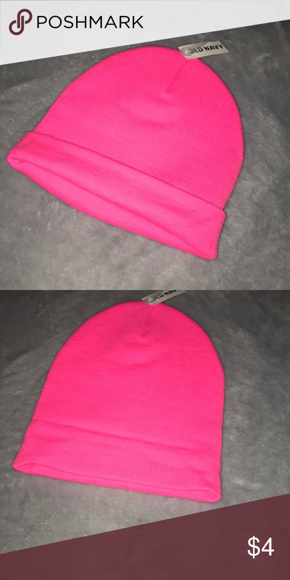 c75ea2c6fbfd3 Old navy beanie Cute old navy beanie. Never worn. Neon pink. New with tags. Old  Navy Accessories Hats