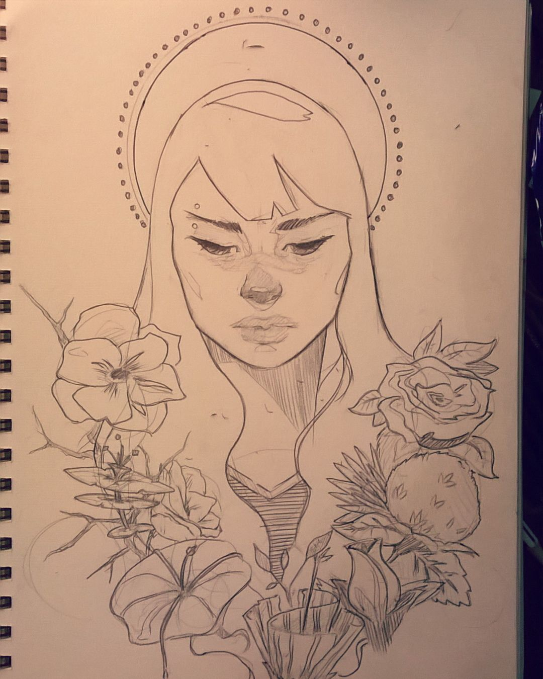 artofyukario - My character Emiko, her mother was a florist and a poet, Emiko lost her family at a young age and now all she has left of them is her mother's garden that still bares beautiful flowers that Emiko keeps safe #sketch #sketches #art #arts #artoftheday #artofvisuals #instagramart #artgram #pencilsketches #illustrationart #illustrations #illustration #drawings #drawing #doodle #artlife #artnerd #artsgallery #sketchbook #artwork #artbook #doodles #pencilwork #artistsoninstagram