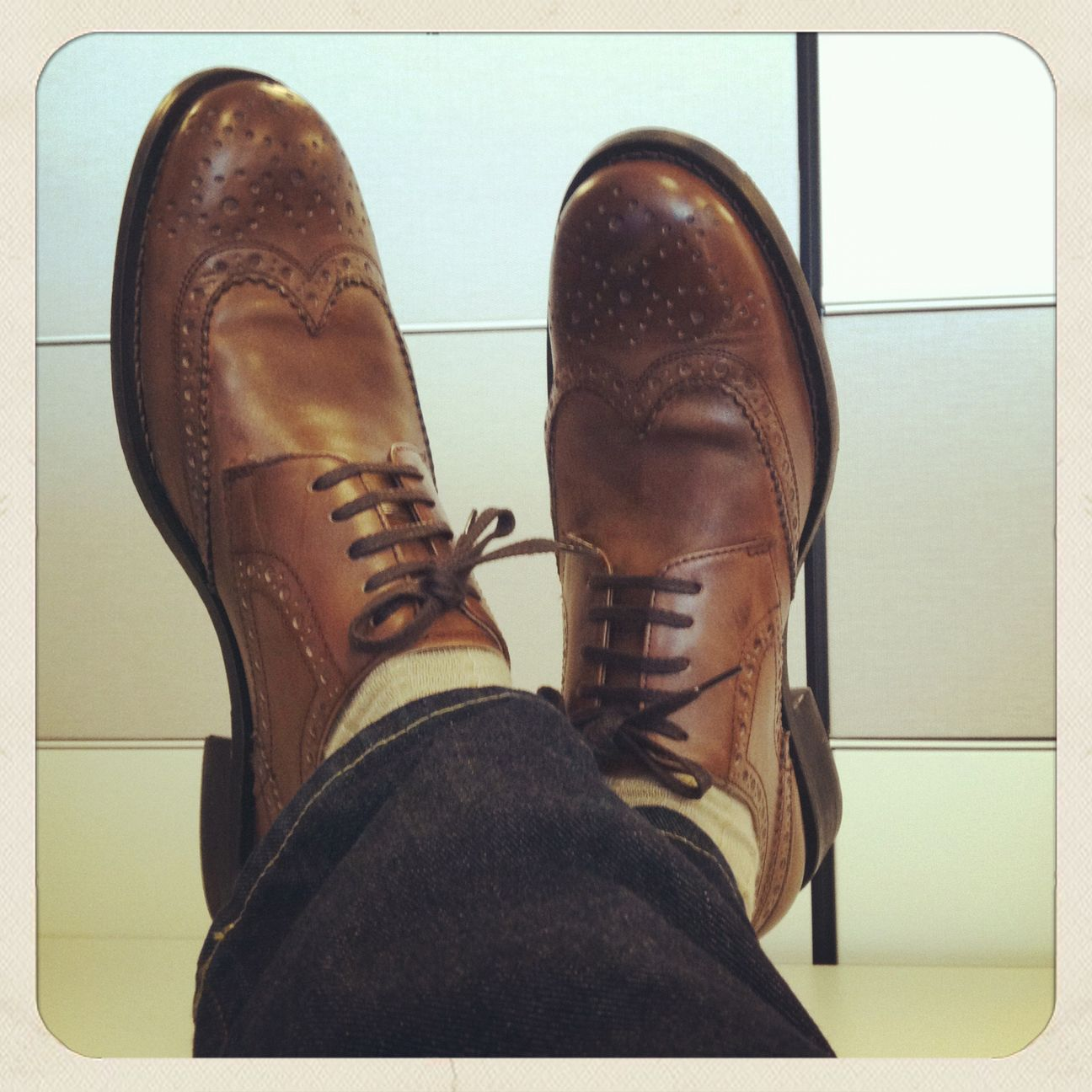Grenson Stanley, Tan Double leather Calf-smooth classic English brogue. Great shoe.