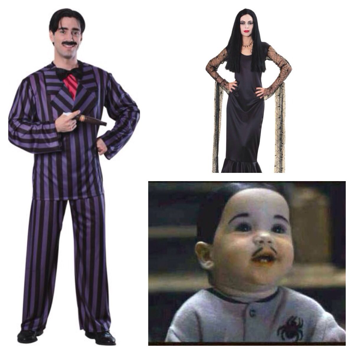 addams family themed costumes- gomez, morticia and pubert | holidays