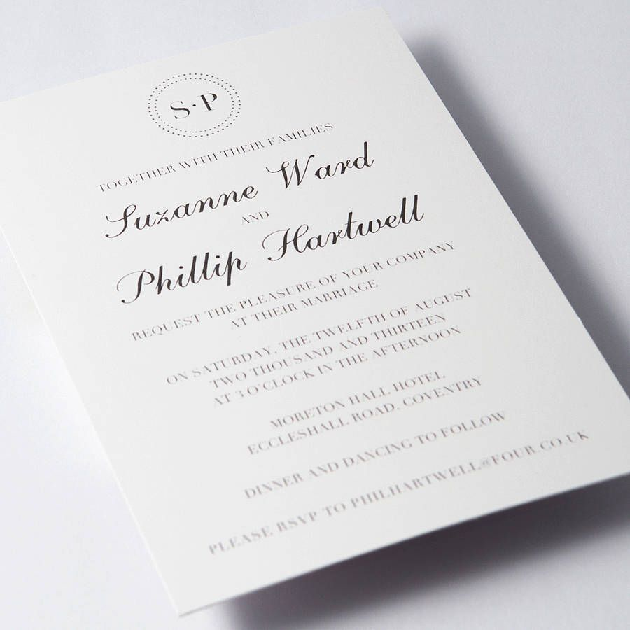 Classic Wedding Invitations | Invitations | Pinterest | Classic ...