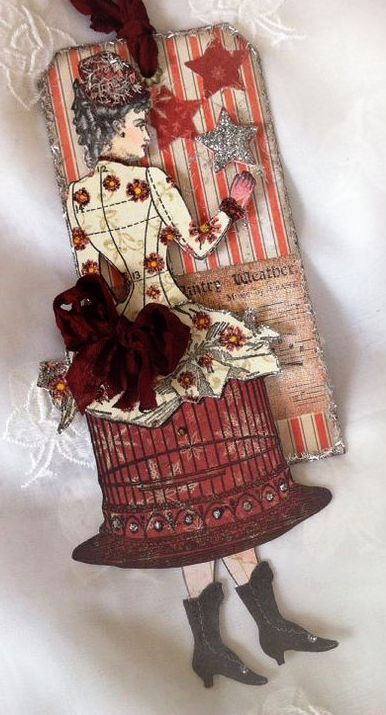 Paper doll created with stamps from Character Constructions