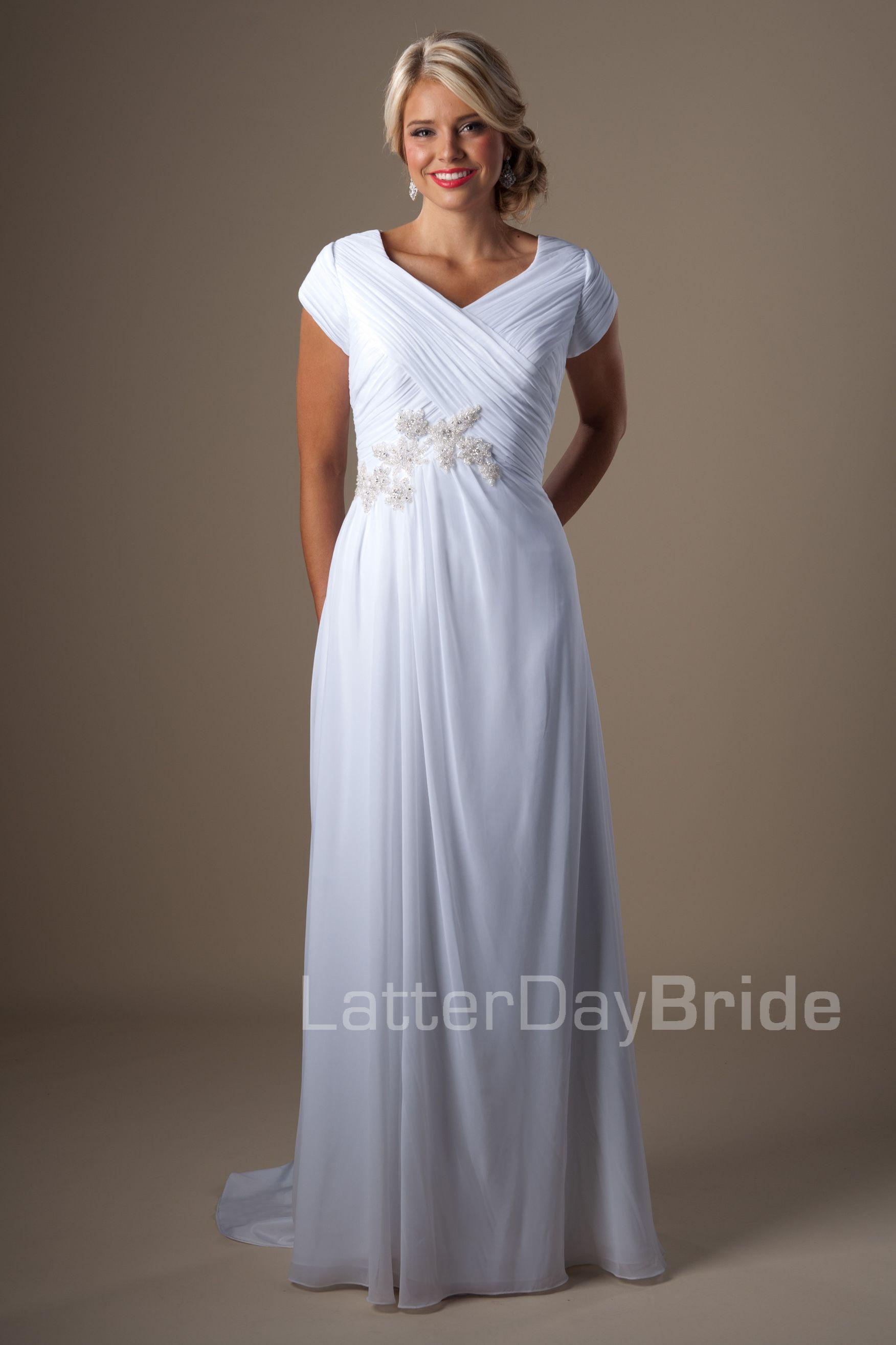 Modest wedding dresses lovette latter day bride for Latter day bride wedding dresses