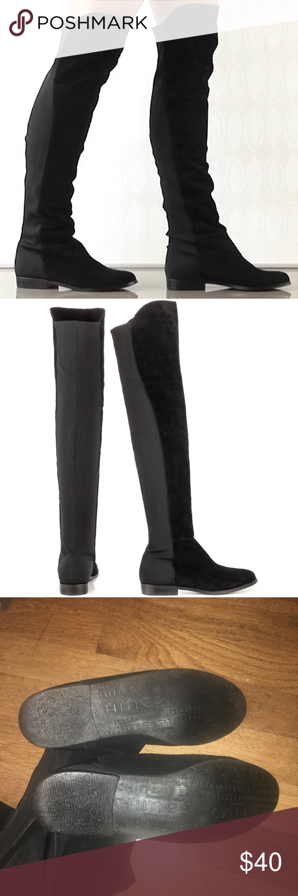 e0d29a6080c9 Chinese Laundry Shoes Over the Knee Boots. Chinese Laundry Riley Boot  Chinese Laundry Riley Boot. Thigh high black split genuine suede boot.  Super cute!