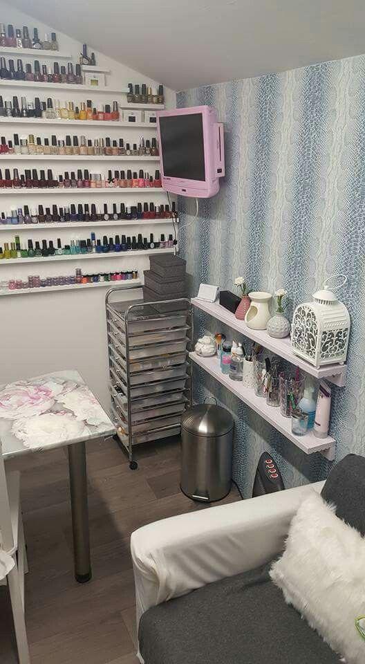 Small Space Nail Technician Room Organization And Set Up Ideas Home Nail Salon Ideas Nail Room Home Nail Salon Nail Room Nail Technician Room
