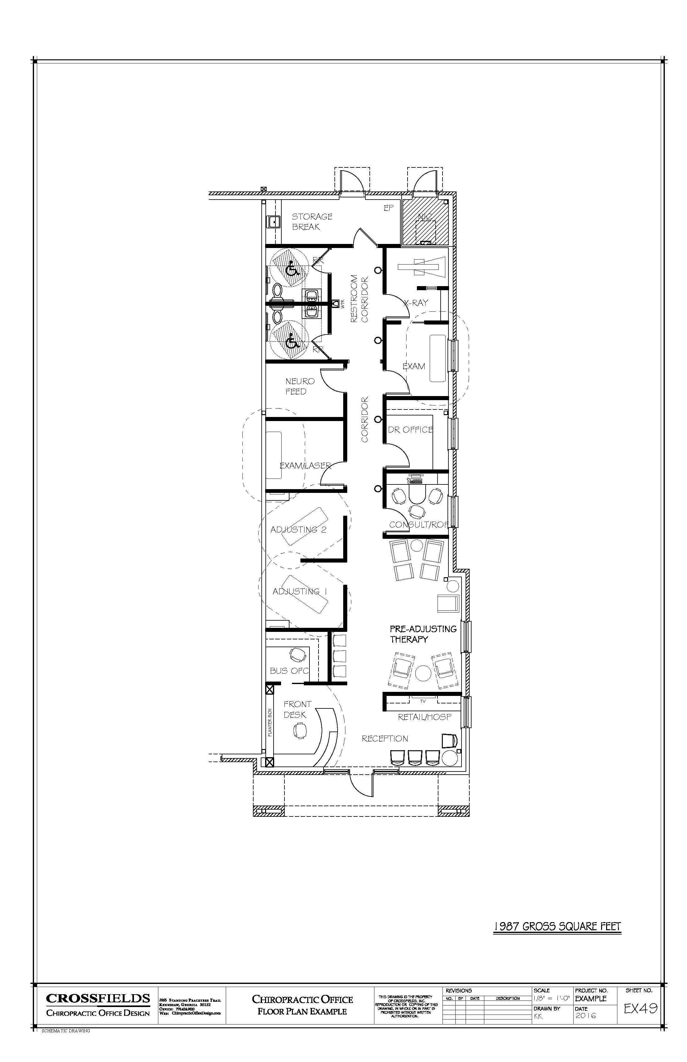 Chiropractic office condo suite floorplan with for Functional floor plans