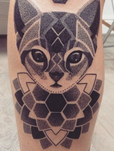 Dotwork Cat Mandala By Lauren Marie Sutton At Redwood Tattoo Studio