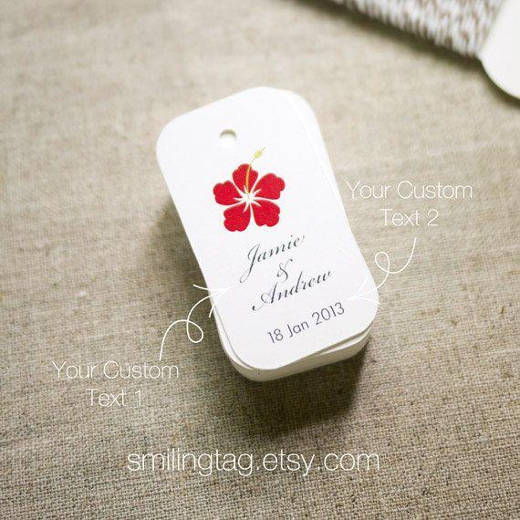 Wedding Gifts From Hawaii: Beach Seaside Theme Wedding Favor Tags