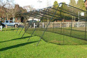 Homemade PVC Batting Cage | Batting cage backyard ...