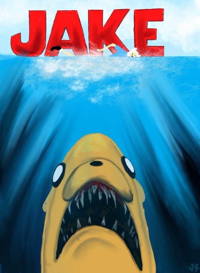 Image 570589 Jaws Poster Parodies Adventure Time Adventure Parody