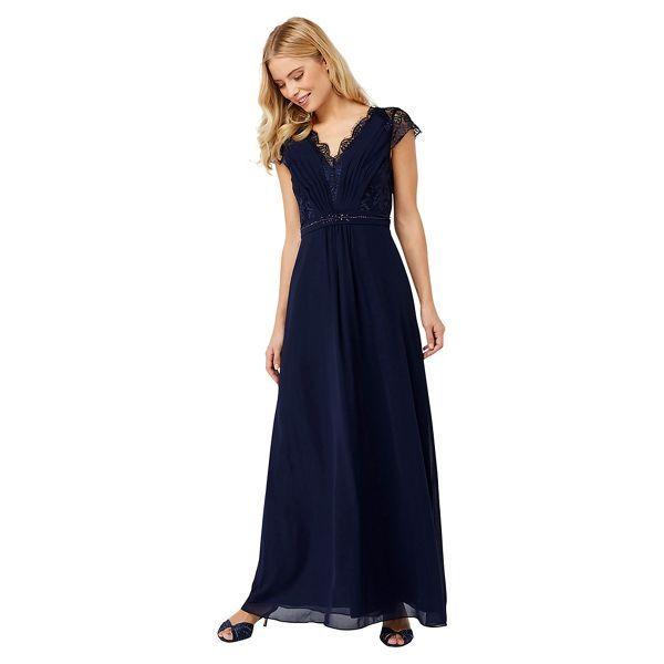 Best Place For Blue Dress Brigitte Lace Maxi Dress Womens Exclusive