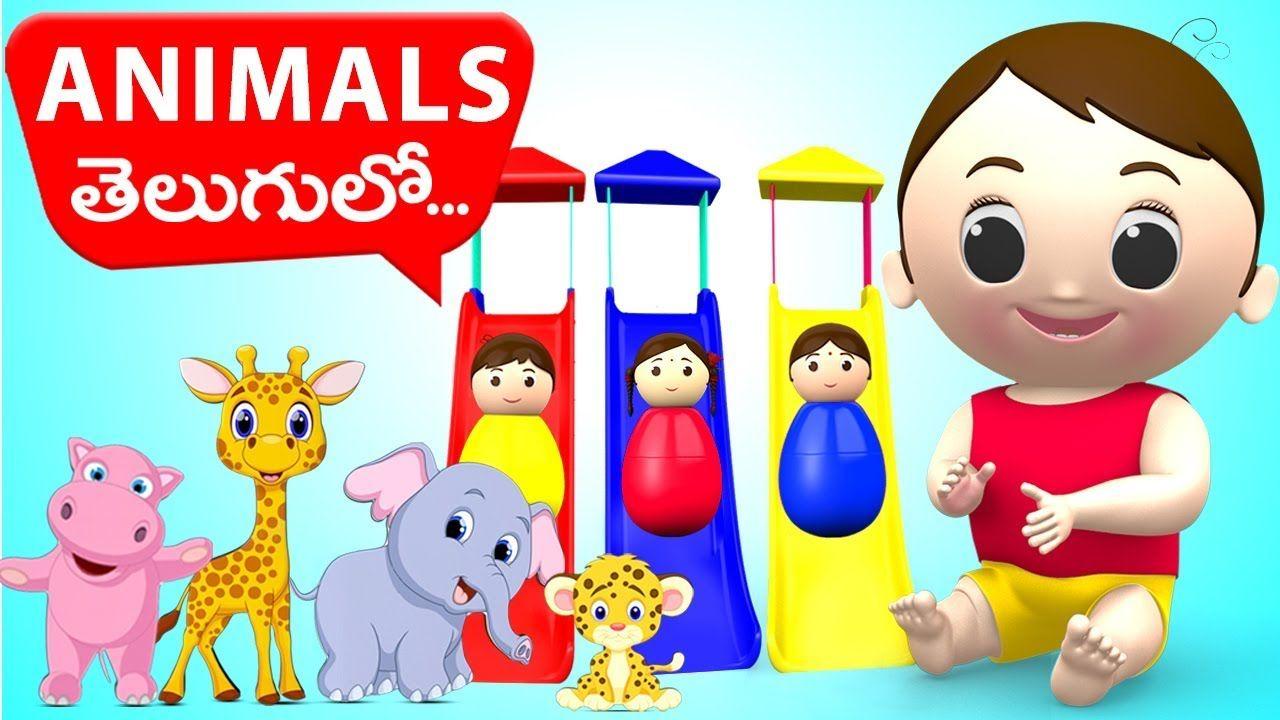 Learn Wild Animals Names in Telugu for Learning Kids