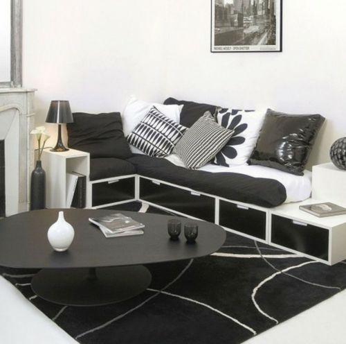 Wohnzimmer Farben Hier Schlagen Wir Ihnen Interessante Einrichtungsideen In  Schwarz Weiß Vor.Diese Farbkombination Ist Klassisch Und Passt In Jedem  Wohnraum