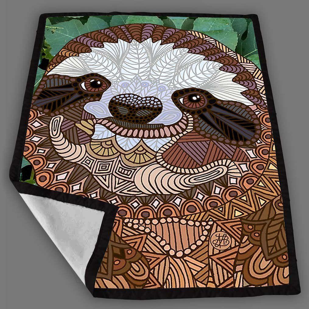 Sloth Blanket Fleece Design Bedding Quilt Throw Blankets