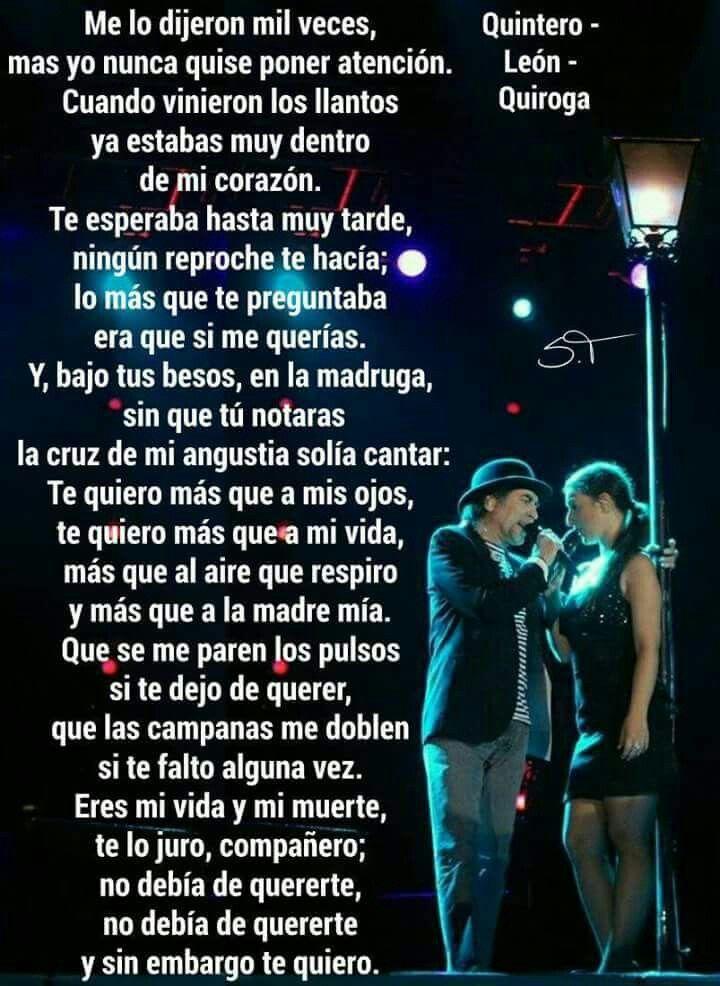 Y Sin Embargo Te Quiero Joaquín Sabina Frases De Sabina Juaquin Sabina Spoken Word