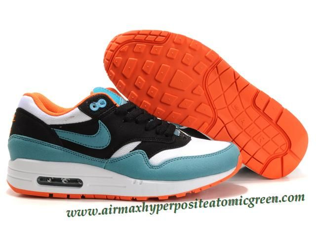 Women Nike Air Max 1 Cyan-Orange 319986 003