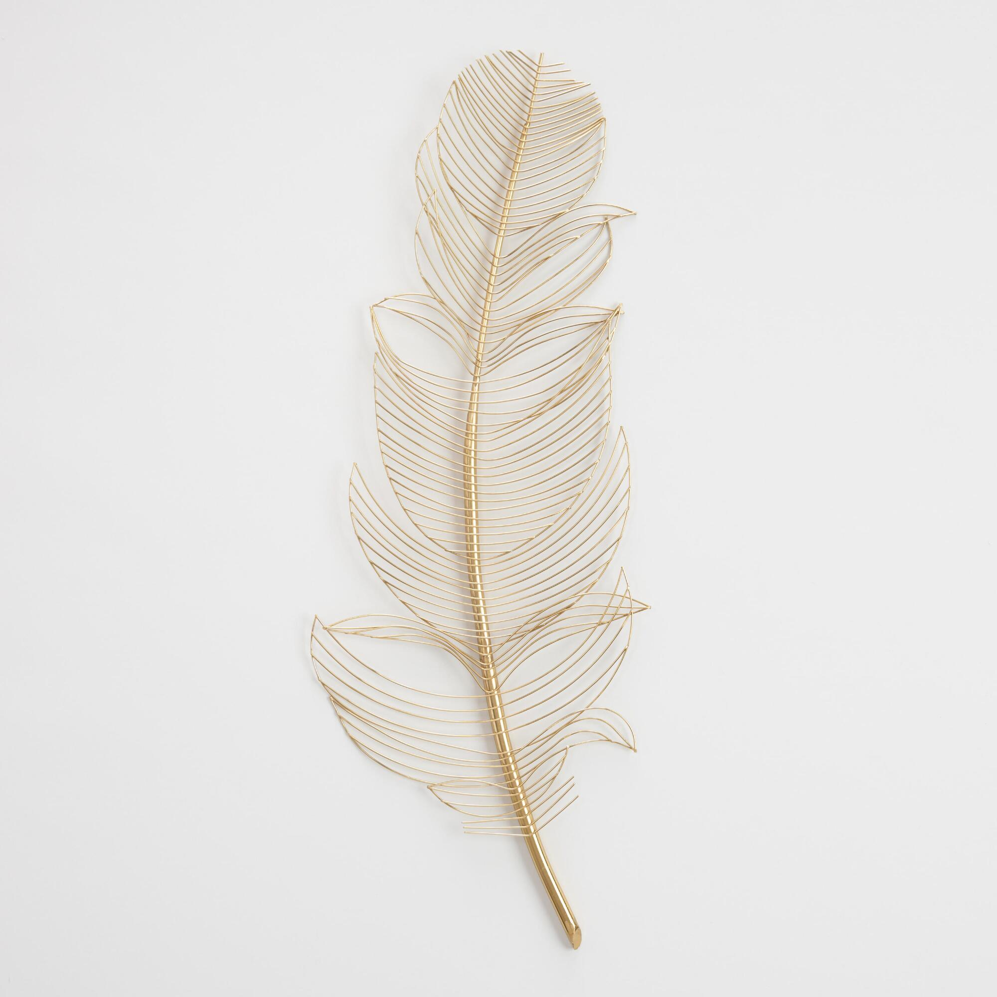 Gold Wire Feather Wall Decor Metal By World Market