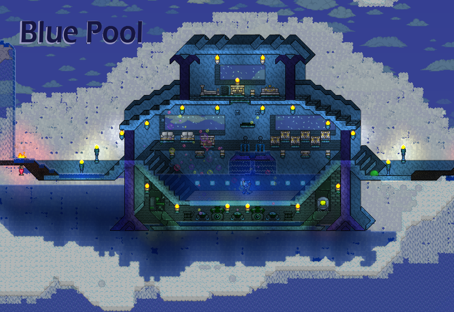 Blue Pool - I tried a 3D style - Does it work ? - Imgur