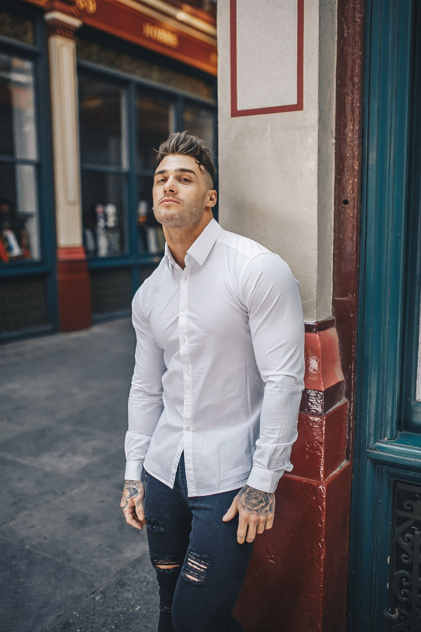 White Tapered Fit Shirt Tapered Fitted Shirts In 2019 Tapered