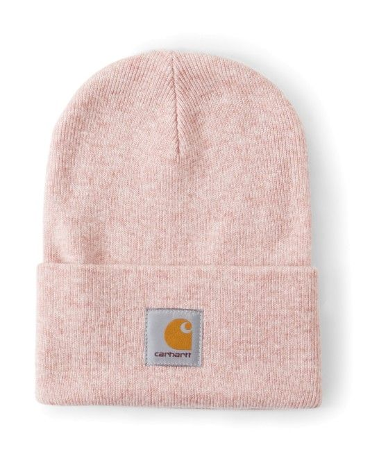 0b598effa5f8b Carhartt WIP Acrylic Watch Hat Heather Pink  StyleMadeEasy