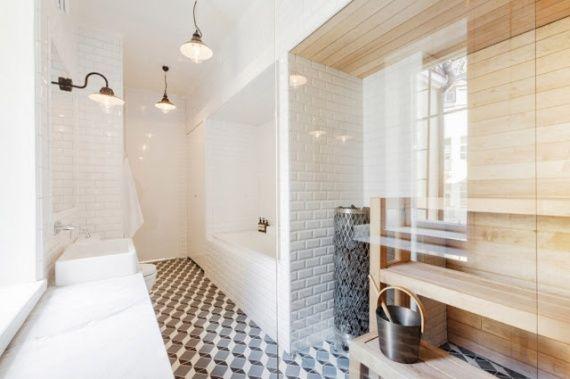Salle de bain carrelage metro toute la hauteur 2 | Appartement ...