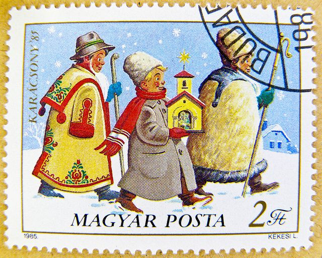 Hungary christmas Karácsony Magyar Posta 2 ft forint