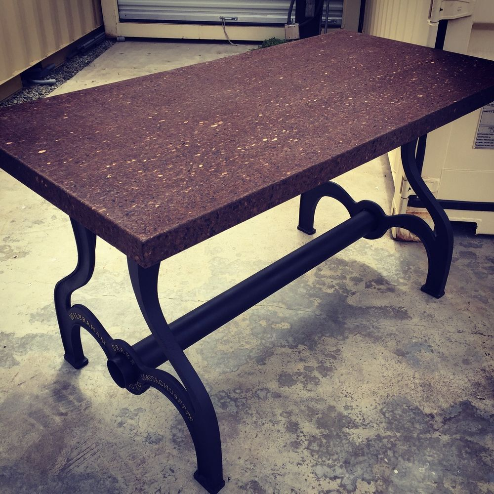 Iron Dining Table Legs Industrial Dining Table Cast Iron Legs Cork Farm Table Rustic Chic