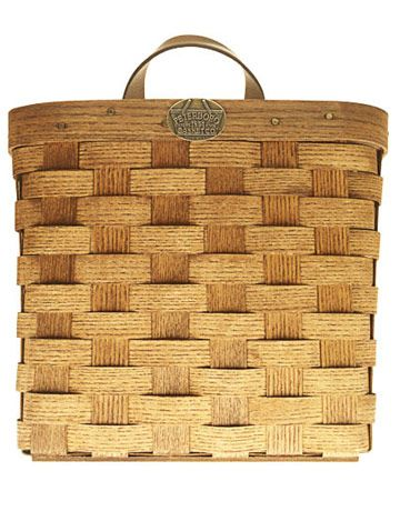 "HANDWOVEN WHITE ASH WITH LEATHER HANDLES, 8 1/4"" H x 9 1/4"" L x 6"" W, $39. PETERBORO BASKET CO.: 800-555-3919; PETERBOROBASKET.COM.   - HouseBeautiful.com"