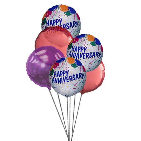 Say it in a beautiful way by sending bunch of balloons and wish them happy anniversary.