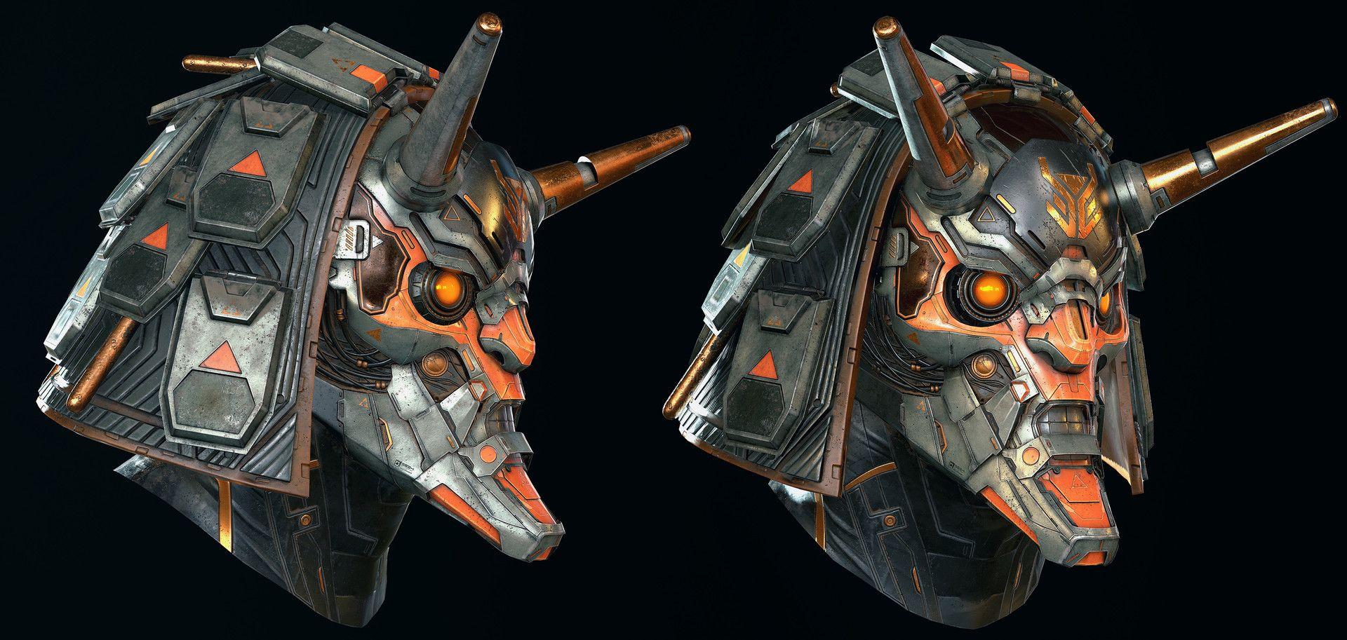 ArtStation - Ronen alternate helmet - Modern Combat Versus - Gameloft, Rodrigue Pralier