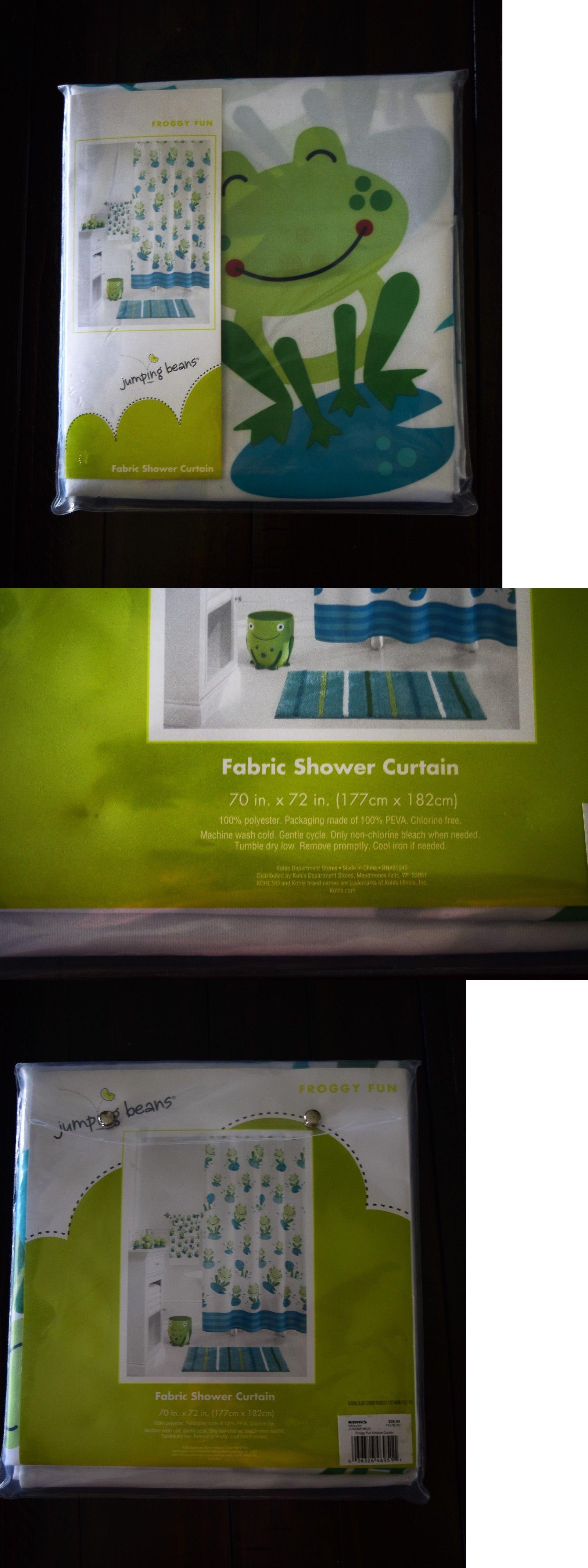 Frog Bath Rug And Curtain