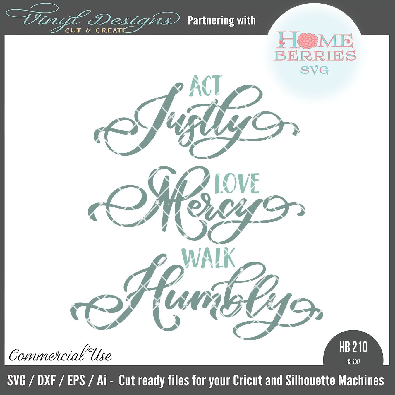 Download HB210 Act Justly Love Mercy Walk Humbly   SVG Files ...