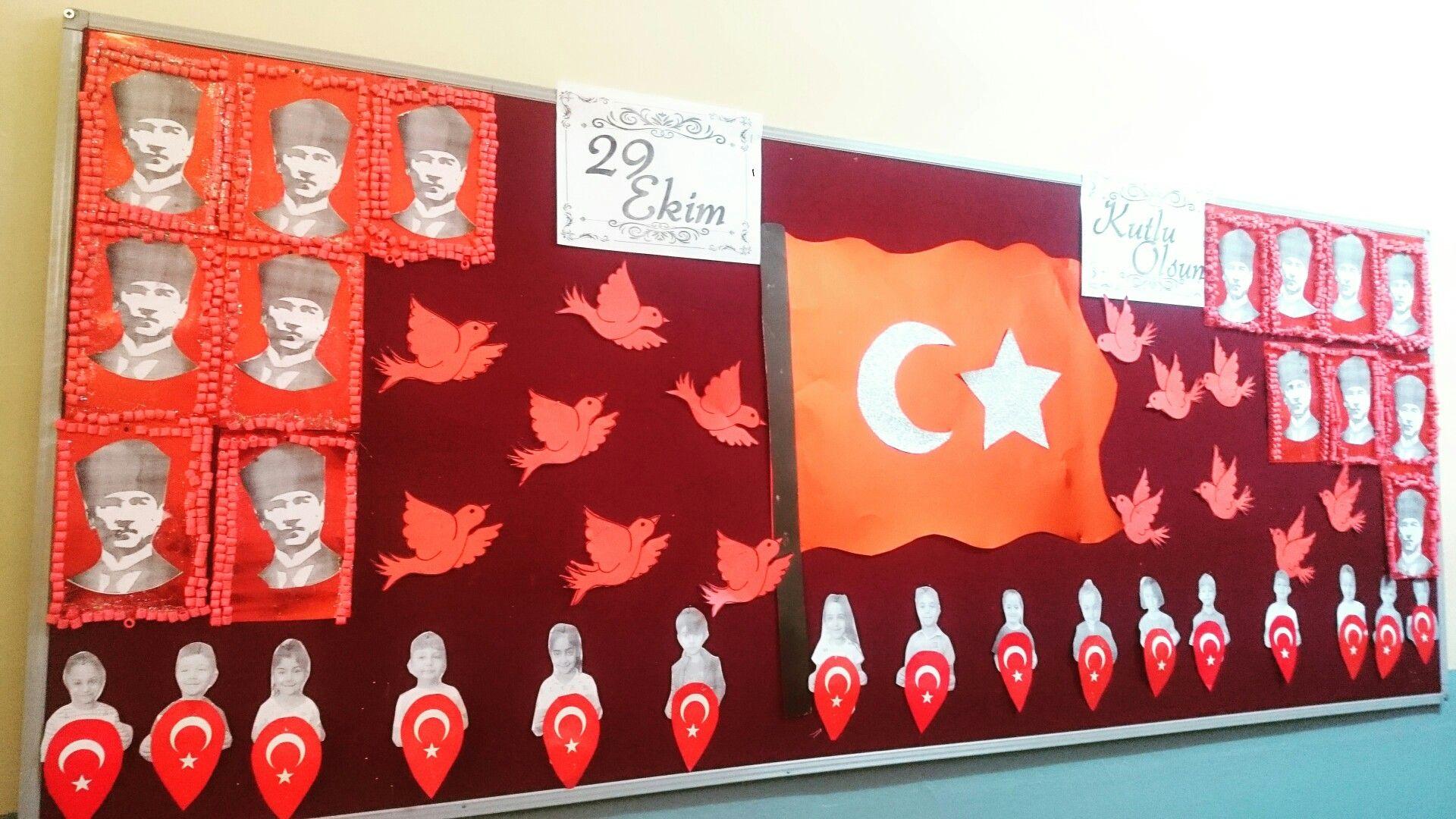 Makarna Boyama Ile Ataturk Cercevesi Ekim