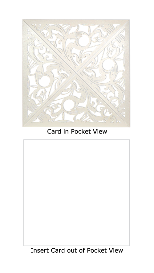 Off White Shimmer Laser Cut Couture Wedding Invitations Storkie