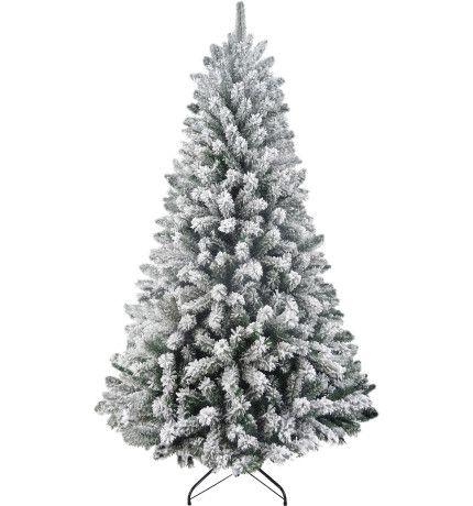 210cm North Star Flocked Tree Green David Jones Green Christmas Tree Green Christmas Flocked Trees