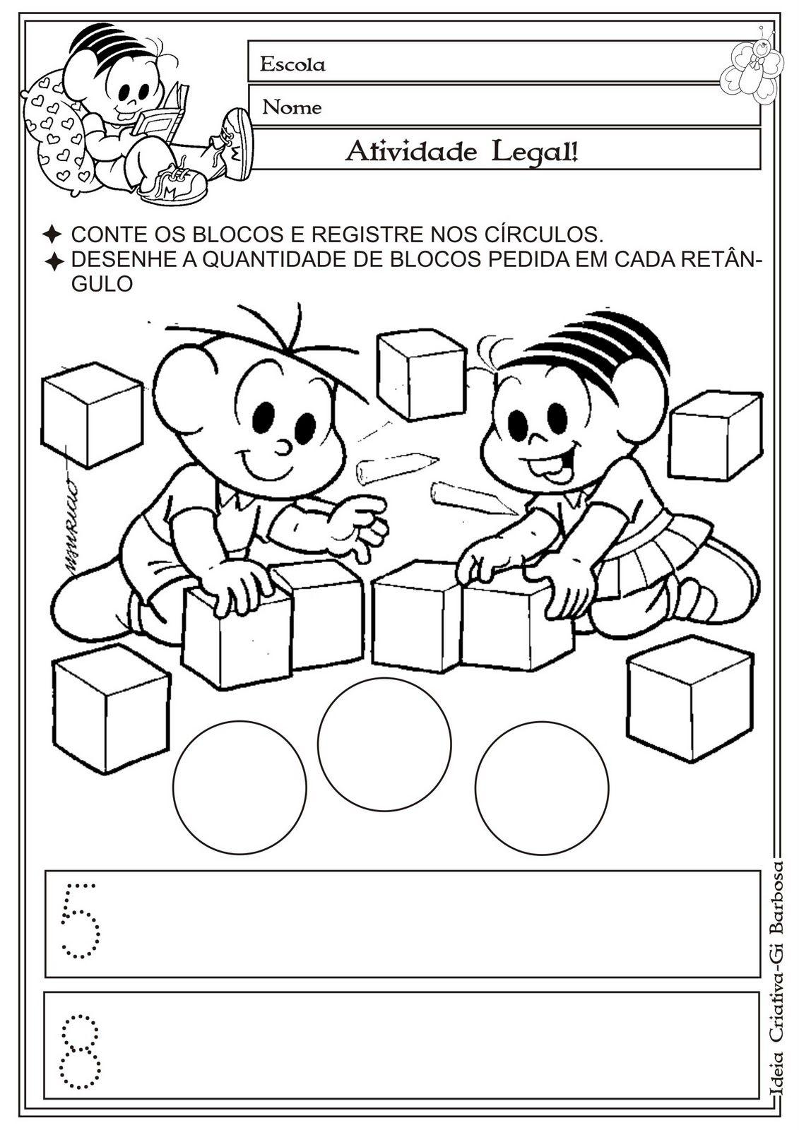 Atividade Matematica Educacao Infantil Turma Da Monica Formas Geometricas Ideia Criativa