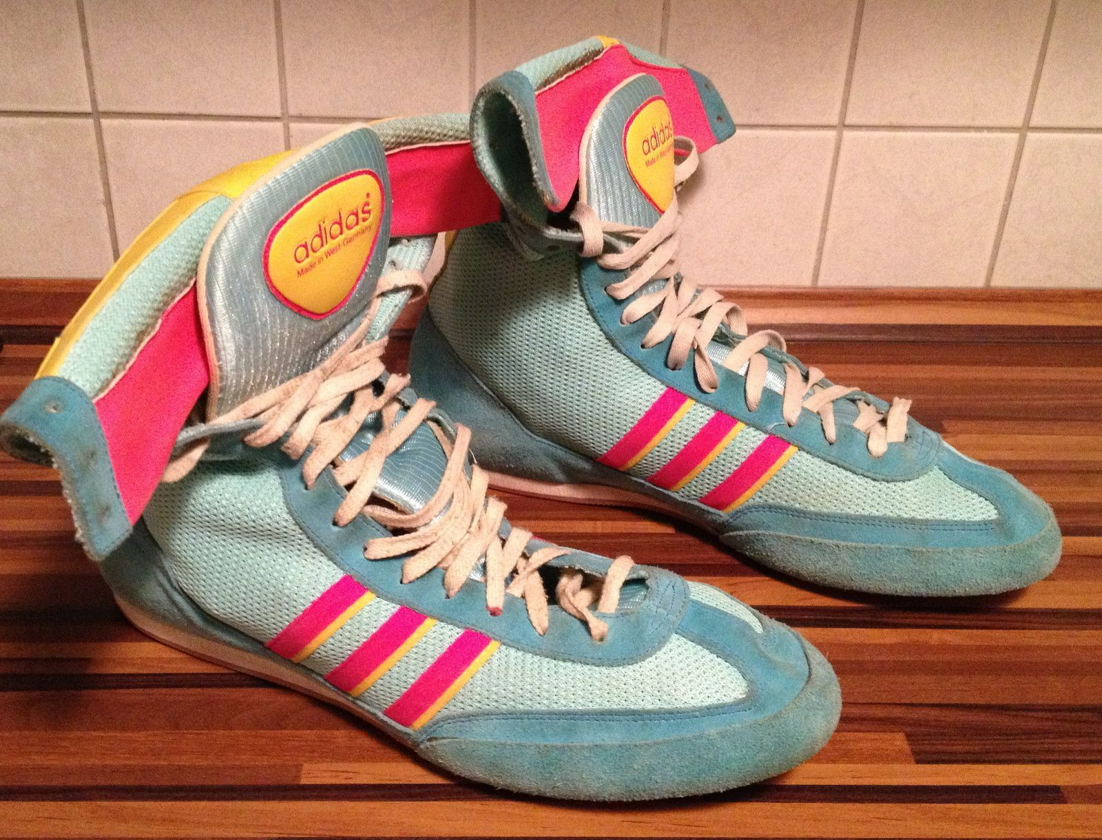 Vintage Adidas Boots West Germany 80s US11 5 Wrestling Boxing Combat  Freistil