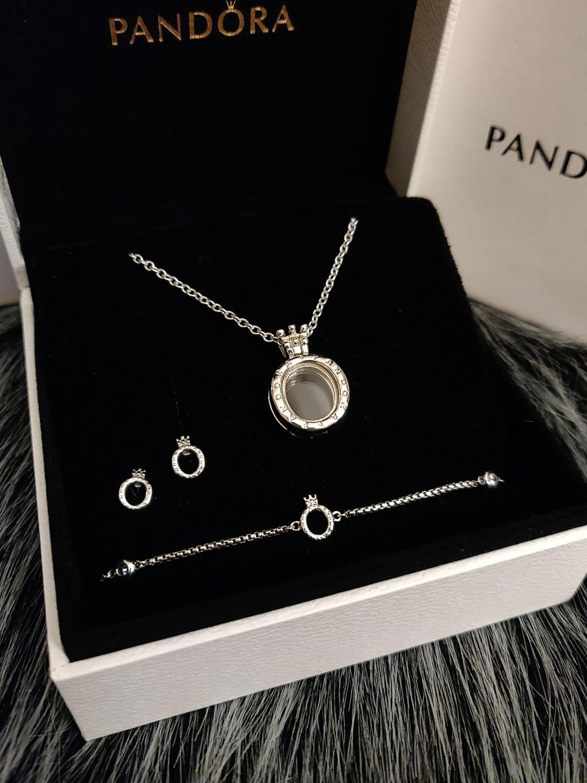Pandora Crown O Necklace,Earrings & Brac in 2021 | Pandora ...